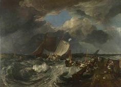 Joseph Mallord William Turner「Calais Pier」(1803)ターナー28歳。