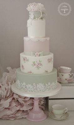 Tartas de Boda - Wedding Cake - Tea Cup Wedding Cake Tracy James Cotton and Crumbs Beautiful Wedding Cakes, Gorgeous Cakes, Pretty Cakes, Amazing Cakes, Wedding Cake Designs, Wedding Cupcakes, Cotton And Crumbs, Bolo Cake, Wedding Cake Inspiration