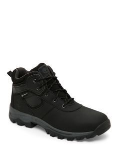 Timberland (Kids Boys) Black Mt. Maddsen Hiker Boots