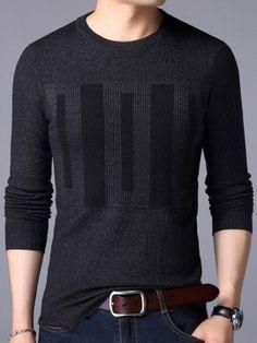 全5色 メンズラウンドネック色のパッチワークデザイン長袖セーター/ニット Mens Winter Sweaters, Men Sweater, Military Pants, Stylish Mens Outfits, Denim Jacket Men, Islamic Clothing, Sharp Dressed Man, Mens Clothing Styles, Mens Sweatshirts