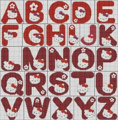 alfabeto hello kitty