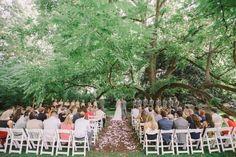 Stunning ceremony location under large tree in North Carolina Mountains Wedding Revival Photography NC Wedding Photographers Vintage Farm Wedding Fine Art Editorial Wedding Style based in North Carolina http://www.revivalphotography.com/