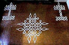 Free Hand Rangoli Design, Small Rangoli Design, Rangoli Kolam Designs, Rangoli Patterns, Rangoli Ideas, Rangoli Designs With Dots, Kolam Rangoli, Rangoli With Dots, Beautiful Rangoli Designs