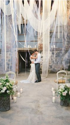 Fabric wedding backdrop ceremony!