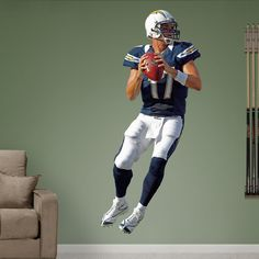 Philip Rivers - Home REAL.BIG. Fathead Wall Decal | San Diego Chargers Wall Decal