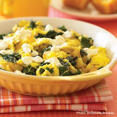 Skillet Scramble with Kale and Garlic