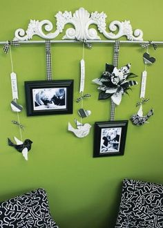 @Haylee Jo you could do this above the shelves from my dad?!