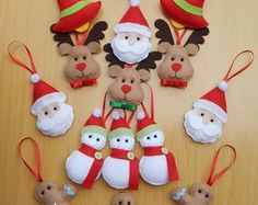 Trendy sewing for kids to make christmas gifts 32 Ideas Christmas Sewing, Christmas Crafts For Kids, Xmas Crafts, Christmas Projects, Christmas Makes, Noel Christmas, Christmas Gifts, Felt Christmas Decorations, Felt Christmas Ornaments