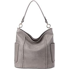 Add sophisticated-chic flair to your look with this luxe bag showcasing braided trim, shining hardware and a slouchy structure. A detachable crossbody strap offers carrying versatility. Best Handbags, Tote Handbags, Purses And Handbags, Mia Farrow, Hobo Bag, Cosmetic Bag, Everyday Fashion, Braids, Shoulder Bag