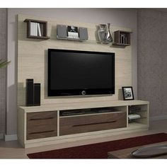 Compre Rack Vegas Rovere e pague em até sem juros. Na Mobly a sua compra é rápida e segura. Tv Unit Furniture Design, Tv Stand Furniture, Tv Unit Design, Tv Wall Design, Home Decor Furniture, Living Room Wall Designs, Living Room Tv, Lcd Panel Design, Modern Wooden Doors
