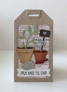 Pot Plante, Terrarium, Paper Art, Scrap, Greeting Cards, Pots, Collage, Design, Decor