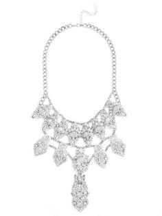 Maharaja Ice Bib Necklace   BaubleBar