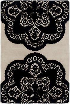 Thomas Paul - Doily Pattern Rug, New Zealand Wool
