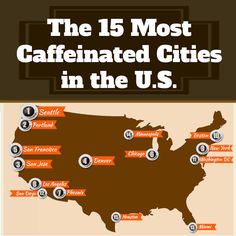 The 15 Most Caffeinated Cities in the U. - I Love Coffee I'm not surprised by the city! Coffee Talk, I Love Coffee, Coffee Break, My Coffee, Coffee Shop, Coffee Cups, Coffee Facts, Coffee Quotes, Mocha