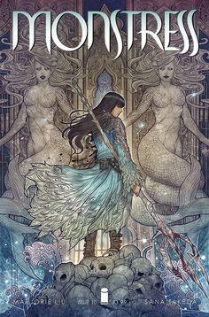 Maika - Monstress #10 - Art and cover by Sana Takeda