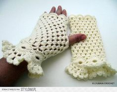 Fingerless Gloves ... by Lyubava Crochet | Crocheting P… na Stylowi.pl