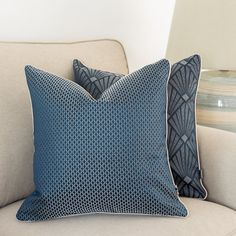 Pillowcase square, Glam cover cushion, navy blue cushion, Exclusive pillowcase , Piped cushion cover, Double side , square pillows, 45x45cm