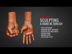 Sculpting a Hand in Zbrush (Full Tutorial at BadKing.com.au) - YouTube