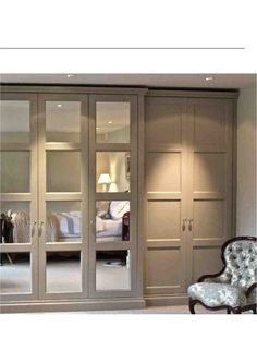 built in wardrobe doors ideas - Bing images Closet Bedroom, Home Bedroom, Master Bedroom, Bedroom Lamps, Bedroom Lighting, En Suite Bedroom, Bedroom Spotlights, Spare Bedroom Ideas, Closet Space