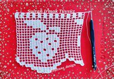 Filet Crochet, Knit Crochet, Crochet Patterns, Stitch, Knitting, Crochet Edging Patterns, Crochet Mandala, Crochet Edgings, Hand Embroidery