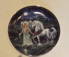 Moonlit Trail enchanted Journey Bradford Collector Unicorn Plate 1997