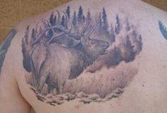 Wildlife Tattoos wildlife tattoos designs and ideas : page 13 Elk Tattoo, Wildlife Tattoo, Animal Tattoos, Black And Grey Tattoos, Tattoo Designs, Tattoo Ideas, Watercolor Tattoo, Tatting, Finger