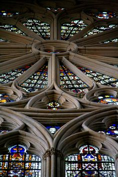 Stone Rose Window. Saint-Etienne Cathedral. Metz. by Liam Cheasty, via Flickr