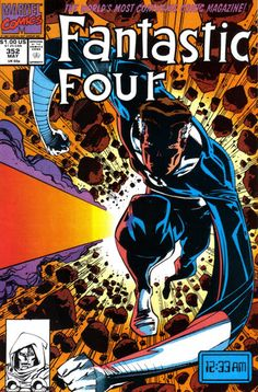 Reed Richards v Doctor Doom, Fantastic Four #352, Art: Walt Simonson