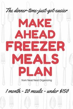 Make Ahead Freezer Meals: 20 Meals from Wegmans for Less Than $150!