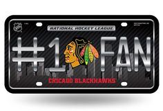Chicago Blackhawks License Plate - #1 FAN