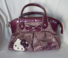 5953c0f14a Hello Kitty Sanrio Fabric Tote Bag Purse Handbag Sequins Glitter NWT  688955689374