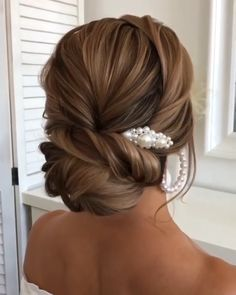 Bridesmaid Hair Updo, Bridal Hair Updo, Wedding Hair And Makeup, Fishtail Wedding Hair, Prom Hair Updo Elegant, Bridal Fishtail Braid, Formal Updo, Braided Updo, Hairdo For Long Hair
