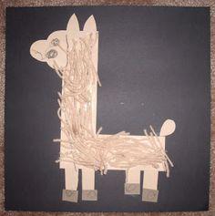 Letter L- Llama with yarn
