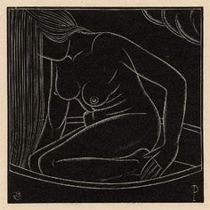 Girl in the bath II [Portrait of Petra Gill] by Eric Gill