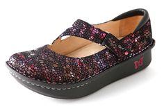 Dayna Red Metallic Fun | Alegria Shoes