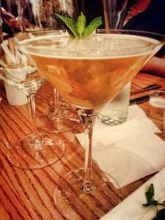 Spiced Apple Pie Martini @ Carmel Cafe.