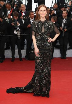 Julianne Moore in Givenchy Couture at Cafe Society Premiere at 2016 Cannes Film Festival