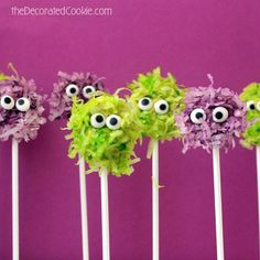 Whether you have kids coming over or a bunch of light-hearted friends, this take on a monster is less scary and more whimsical. And if it means we get some shredded coconut in our dessert, we're in.  Get the full tutorial at The Decorated Cookie.   - Redbook.com
