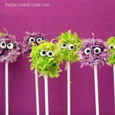 Coconut Fuzzy Monster Pops