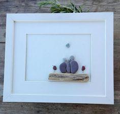 Pebble art Family3 Family3 gift Family3 portrait beach art