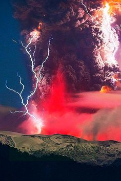 Volcanic Eruption, Chile