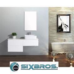 Luxus Waschbecken von SixBros Bathroom Lighting, Vanity, Mirror, Furniture, Home Decor, Sink Tops, Luxury, Simple, Homes
