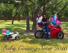 Motorcycle baby announcement!
