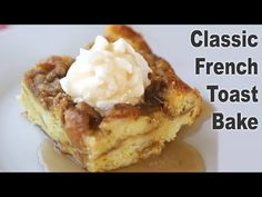 This classic overnight French toast recipe is made with simple ingredients and is so easy to make! Perfect for Christmas morning, or a simple brunch any time of the year.