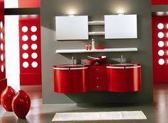 Rojo y negro del color en el interior   Decoración 2014