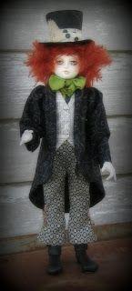 Mad Hatter by doll artist Sherry Goshon Steampunk Dolls, Doll Parts, Fantastic Art, Wax Seals, Art Dolls, Doll Clothes, Harajuku, Sealing Wax, Corner