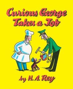 In this Curious George Takes Job Book, the little monkey takes a trip to the zoo and snatches the key to the monkey cage from the keeper!