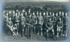 Remarkable photomontage of all the men from Auchtermuchty & Dunshalt who lost their lives during WWI
