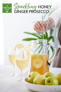 Add a little sparkle to your Galentine's Day celebrations this year! Whip up a delicious brunch cocktail with this recipe for Sparkling Honey Ginger Prosecco, featuring Cocktail Crate Craft Mixer Ginger Bee, one of our favorites from a selection of curate Alcohol Recipes, Raw Food Recipes, Gourmet Recipes, Summer Drinks, Fun Drinks, Cocktail Recipes, Cocktails, Martinis, Ginger Apple