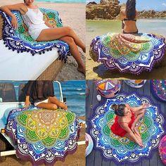 Mandala Lotus Flower Shape Yoga Blanket